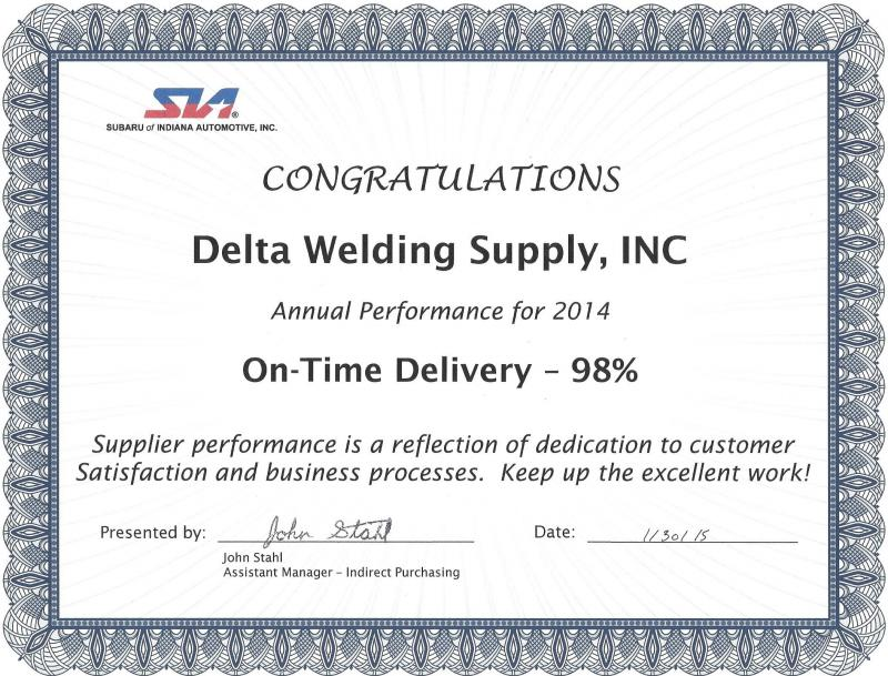 Congrats to our staff for the second year in a row of delivery excellence